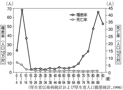 率 別 致死 インフルエンザ 年齢