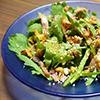 春菊とくるみのベーコンオイルサラダ