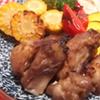 焼き野菜とスペアリブのマーマレードソース