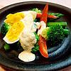 茹で野菜の明太マヨソース