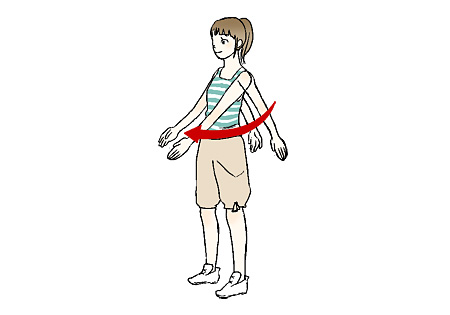 図解「肩周辺の筋肉をほぐそう! その1」
